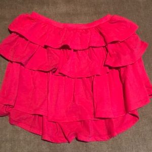 Gap girls sz M (8) pink skirt. 3 layers of ruffles